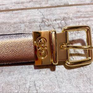 Cole Haan leather Black & Silver reversible belt